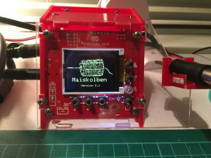 Der erste Prototyp für ein Maiskolben-Gehäuse aus Lasercut-Plexi